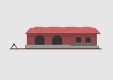 Goods shed. Isolated on background. Vector illustration stock illustration