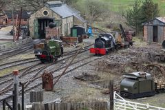 Goods shunting yard - Beamish Museum Stock Photos