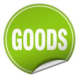 Goods sticker. Goods round sticker isolated on wite background. goods stock illustration