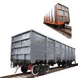 Goods wagon Royalty Free Stock Photo