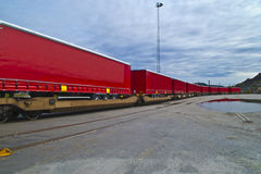 Goods wagons Royalty Free Stock Photography