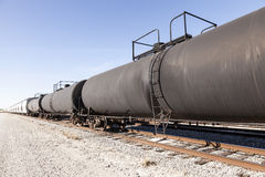 Goods wagons and cisterns Stock Images