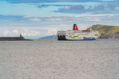 Goodwick, Wales, het UK - 20 Mei, 2017: De veerboot van Stena Line royalty-vrije stock afbeelding