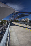 Goodwill-Brücke über Brisbane-Fluss stockfoto