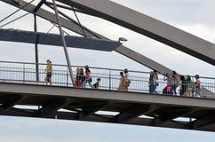 Goodwill-Brücke - Brisbane Australien Stockfotos