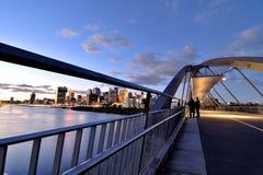 Goodwill Bridge at sunset Stock Photo