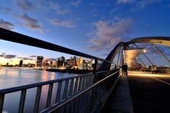 Goodwill Bridge at sunset Stock Photos