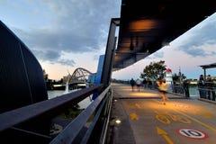 Goodwill Bridge at sunset Stock Image