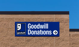 Goodwill Store Exterior Sign Stock Photo