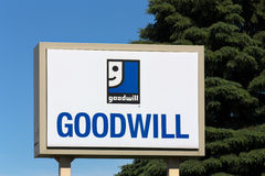 Goodwill Store Exterior Sign Stock Photos