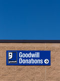 Goodwill Store Exterior Sign Royalty Free Stock Photo