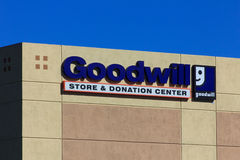 Goodwill Store Exterior Sign Royalty Free Stock Image
