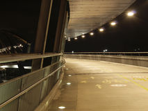 Goodwill under lights. Goodwill Bridge walk and cycle way in Brisbane at night Royalty Free Stock Image