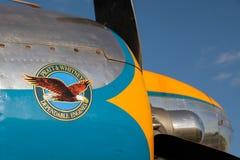 GOODWOOD, ЗАПАДНОЕ SUSSEX/UK - 14-ОЕ СЕНТЯБРЯ: DC3 Pratt и Whitney Стоковые Фотографии RF