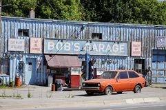 Bob`s Garage a fictional TV auto-shop featured in Schitt`s Creek. Goodwood, Ontario, Canada, June 11, 2018:  Bob`s Garage a fictional TV auto-shop featured in Royalty Free Stock Photography