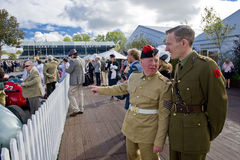 Goodwood revival visitors. Goodwood revival visitors, taken on September 2011 on Goodwood revial in UK Stock Photography