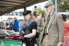 Goodwood revival visitors. Stock Photo