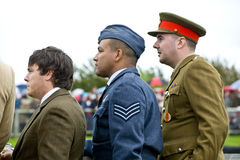 Goodwood revival visitors. Stock Photography