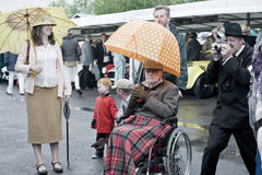 Goodwood revival visitors. Stock Photos