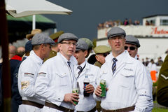 Goodwood revival visitors. Goodwood revival visitors, taken on September 2011 on Goodwood revival in UK Stock Photo