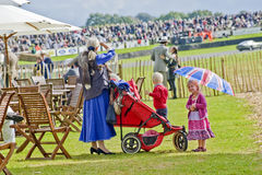 Goodwood revival visitors. Stock Images