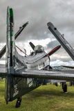 GOODWOOD VÄSTRA SUSSEX/UK - SEPTEMBER 14: Douglas Skyraider parkerar Arkivfoton