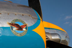 GOODWOOD, WEST SUSSEX/UK - SEPTEMBER 14 : DC3 Pratt and Whitney royalty free stock photos