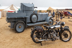 GOODWOOD, WEST SUSSEX/UK - SEPTEMBER 14 : Old Brough Superior mo stock photography