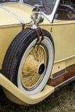 GOODWOOD, WEST SUSSEX/UK - SEPTEMBER 14 : Spare wheel on a vinta Stock Images