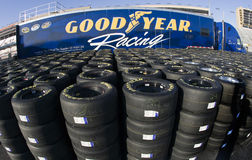 goodyear участвуя в гонке автошины стоковое изображение