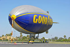 Goodyear Blimp. At its docking station Stock Photography