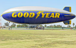 Goodyear Blimp Spirit of America docked. Stock Image
