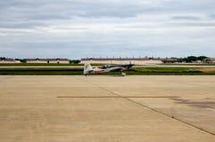Goodyear/Whelen Extra 330SC Stunt Plane. Taxiing towards runway stock image