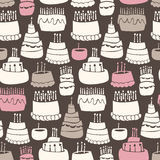 Gooey Birthday Pattern. Seamless pattern of gooey birthday cakes Royalty Free Stock Images