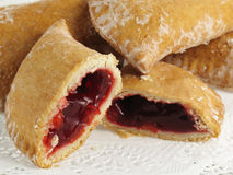 Gooey Cherry Pocket Pies Stock Images