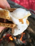 Gooey s'more. Toasted marshmallow dessert Royalty Free Stock Image