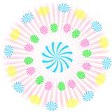Gooey Swirl Circle Lollipop Vector Royalty Free Stock Photography