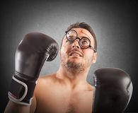 Goofy boxer Royalty Free Stock Photos