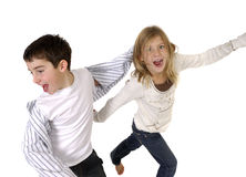 Goofy Boy and Girl Royalty Free Stock Photo