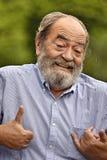 Goofy Colombian Grampa. A hispanic senior adult male Stock Image