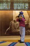 Goofy in a sailor outfit. Goofy did something wrong and is in shock in a sailor outfit on Disney Cruise Line Stock Image