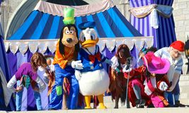 Goofy and Donald duck at Disneyworld Stock Images