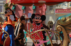 Goofy et souris de Minnie Photo stock