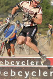 Goofy Face in Cyclocross Race Stock Photo