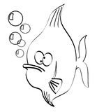 Goofy fish Stock Photography