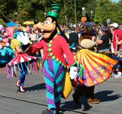 Goofy and friends in a street parade at Disneyworld Stock Photography