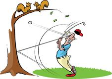 Goofy golf guy 2 Royalty Free Stock Image