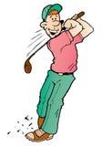 Goofy Golfspeler royalty-vrije illustratie