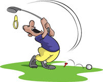 Goofy golfspeler 4 royalty-vrije illustratie