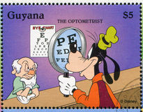 Goofy. GUYANA - CIRCA 1995: stamp printed by Guyana, shows Walt Disney characters, Goofy, circa 1995 royalty free stock photography